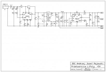 Zasilacz 5V z akumulatorem Li-Poly